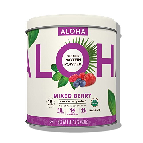ALOHA Organic Plant Based Protein Powder Stevia Free Mixed Berry 211 oz 15 Servings 0 - Aloha Organic Protein Powder