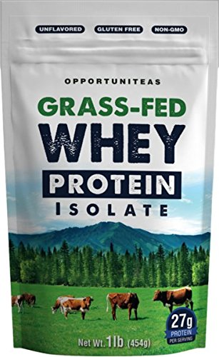 Grass Fed Whey Protein Powder Isolate Unflavored Cold Processed Undenatured Pure Wisconsin Grassfed Protein For A Shake Smoothie Drink or Food Natural Non GMO No Gluten 0 - Opportuniteas Grass-Fed Whey Protein Isolate
